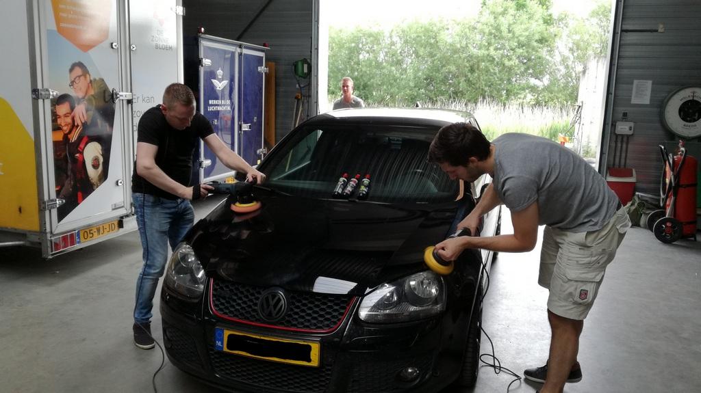 workshop auto polijsten VW Golf